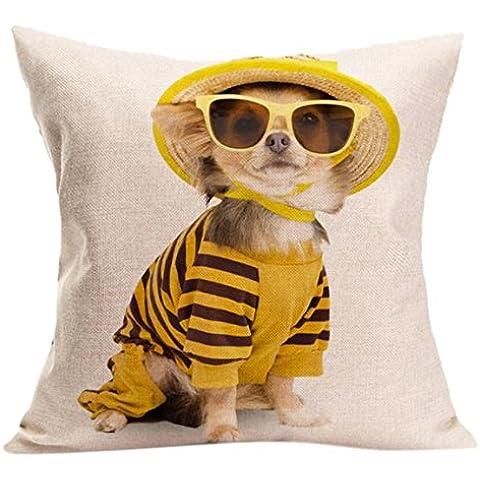 Longra Cuscino Vintage Cute Dog federa divano Vita tiro