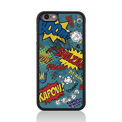 Call Candy Comic Capers Glossy Coque arrière pour Apple iPhone 6 – Parent bleu