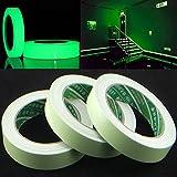 Wlgreatsp Selbstklebendes leuchtendes Band, 1 PC-leuchtendes Band-wasserdichtes selbstklebendes Glühen im dunklen Gebrauch für Stadiums-Sicherheits-Ausgangsdekor