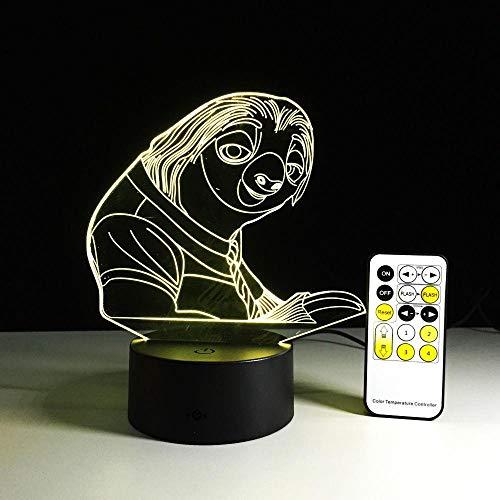 CYJQT 3D Nachtlichter Kinder Emotion Lichter Wahnsinn Tier Stadt 7 Farben Ändern Fernbedienung Glühbirnen Faule Menschen Illusion Usbled Lichter Kreative Action Charaktere Kindergeschenke (Party-stadt Wars Star)