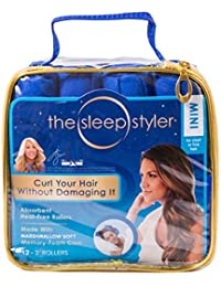 The Sleep Styler, The Heat-free Nighttime Hair Curlers For Short Or Long Fine Hair, Mini (3 Rollers), 12 Count...