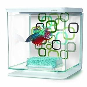 Marina Betta Aquarium Starter Kit, Geo Bubbles