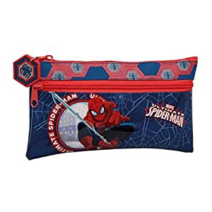 Trousse Spiderman 25 cm 2 compartiments zippés