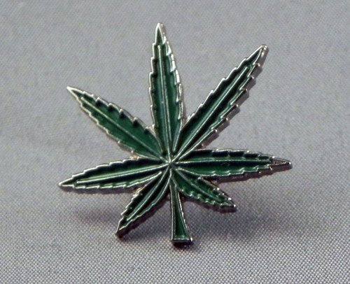 Metall Emaille Pin Badge Marihuana Cannabis Drug Leaf (Immer Smoke Weed)