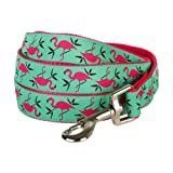 Blueberry Pet 1,5 cm by 150 cm Pink Flamingo auf Hell-Smaragtgrün Basic Nylon-Hundeleinen für kleine Hunde, S Kleine Hundeleine, Passender Hundehalsband & Hundegeschirr erhältlich separate