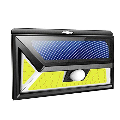 TEEPAO Solar Light, 76/180 COB Outdoor Solar Lights with Motion Sensor and 2200mAh Lithium Battery, 120 Degree Sensing Angle and IP44 Waterproof, Security Wall Lamp for Door Yard Garage (Outdoor Motion Solar Light)