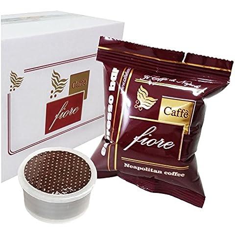Cialde Capsule CAFFE FIORE Miscela Espresso BAR Compatibili LAVAZZA Espresso Point - Confezione da 100 Capsule - Lavazza Espresso Point Capsula Macchina