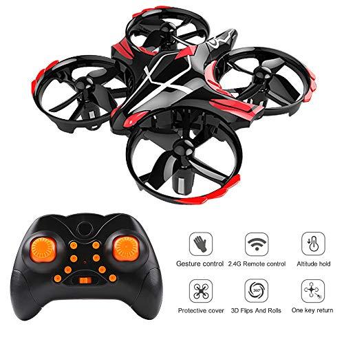 PinBoTronix Mini Quadcopter Drone per i Bambini, RC Drone con Toss / Shake Take off Gesto Controlled Altitudine Tenere Flips 3D e modalità Headless Easy Fly