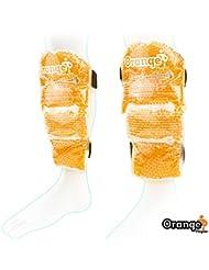 Pack de hielo Premium para el dolor en las espinillas - Paquete de Gel Caliente y Frío utilizado para curar el dolor de espinillas y el de pantorrilla de Orange Physio (Doble pack)