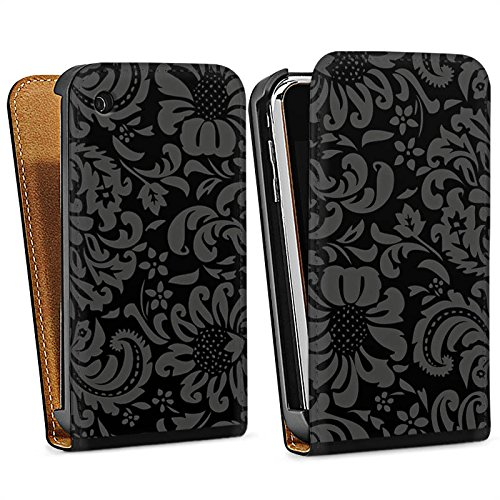 Apple iPhone 5 Housse Outdoor Étui militaire Coque Ornements Vintage Rétro Collection Motif Sac Downflip noir