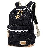 Rucksäcke Mädchen Backpack 22L Canvas Damen Schulrucksack Vintage Daypack für Schule Reisen ...