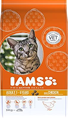 Iams Dry Adult Cat Food with Chicken, 3 kg
