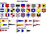 Bandiere di segnalazione marittima internazionale–Set di 40bandierine–42bandiere totale–nautica/marittima/marine/barca/barca/nave/nautica Décor