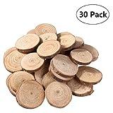 VORCOOL Holzscheiben 30st 3-4CM Holz Log Scheiben Scheiben für DIY Handwerk Hochzeit Mittelstücke