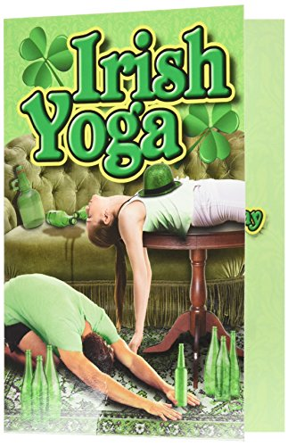 C1634SPG 'Irish Yoga' - Lustige St. Patrick's Day Grußkarte mit Umschlag 12,7 x 17,8 (St Patty Day Kostüm)