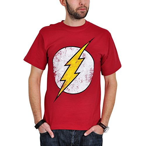 The Flash Logo Distressed T-Shirt rot zur Serie - S