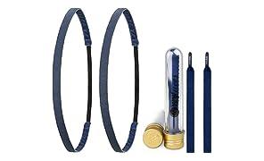 Ivybands ® & IVYLACES ® | Blue Edition I | Haarband & Schnürsenkel Set | Blau Haarbänder | IVY3X501 ILACE035