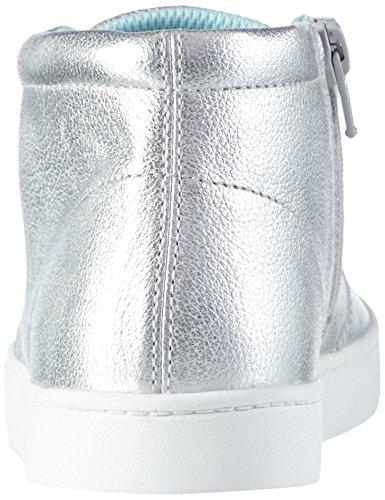 Clarks Kids Pattiefizz Jnr, Baskets Basses fille Argent (Silver Leather)