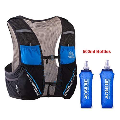 AONIJIE Mochila hidratación 5 l 2 Botellas 500 ml
