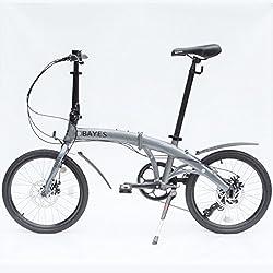 "ALU Klapprad 20"" Faltrad Fahrrad 8 Gang Shimano Scheibenbremsen grau s-matt Folding Bike"
