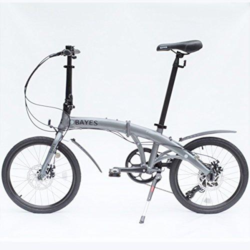 "BAYES Alu Faltrad 20\"" Shimano 8 Gang mit Scheibenbremsen Klapprad Folding Bike (grau seidenmatt)"