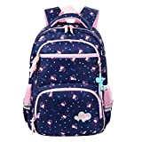Vbiger Rucksack Mädchen Schulrucksack Kinder Rucksack Schultasche für mädchen (Königsblau)