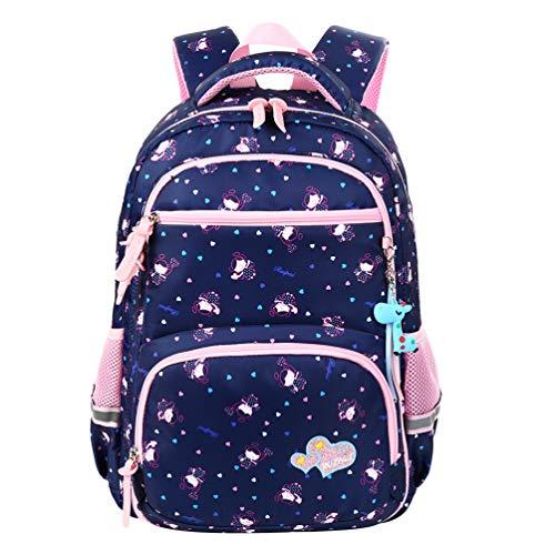 Vbiger Zaino per bambini Borsa da scuola adorabile All'aperto Casual Daypack per gli studenti delle scuole elementari (Blu 1)