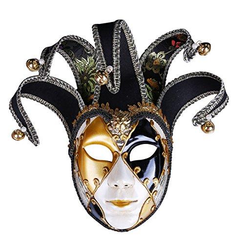 (Halloween-Maske Kostüme Für Frauen Prom Party Cosplay Gemalt Maske Masquerade Dress up Maske Mit Krone Schwarz, Rot, Blau, Lila,Black)
