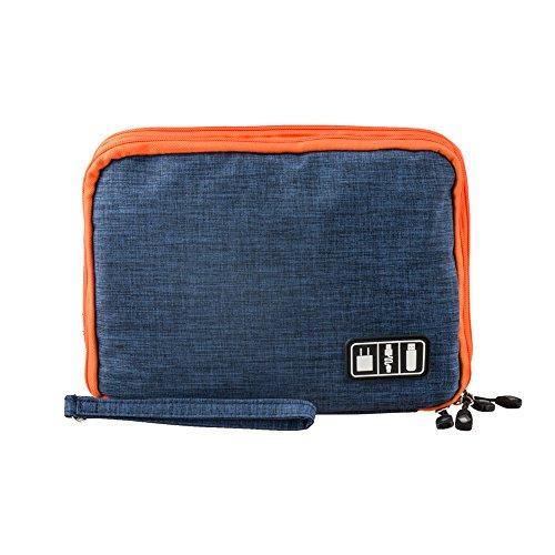 Eletronik Organizer, P.KU.VDSL Universaltasche Reiseorganisator Kabel Case Tasche zur Aufbewahrung für Eletronikzubehör Handy Ladekabel USB Kabel Sticks Speicherkarte Netzteil