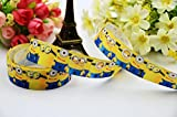 Ruban de décoration de gâteaux Minions gros grain Cadeau Wrap Craft 1m 22–23mm