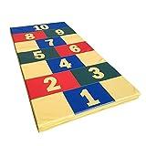 NiroSport Weichbodenmatte 200 x 100 x 8 cm Classics Spielmatte Gymnastikmatte Trainingsmatte Fitnessmatte Turnmatte Sportmatte Bodenmatte Schutzmatte Übungsmatte wasserdicht