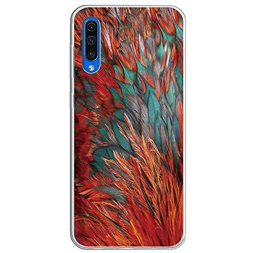 pooier Kompatibel Mit Galaxy A50 Hülle, Transparent Soft TPU Silikon Ultradünn Handyhülle Case Crystal Clear Damen Schutzhülle Wasserdicht Hülle (Galaxy A50, TPU Feather) -