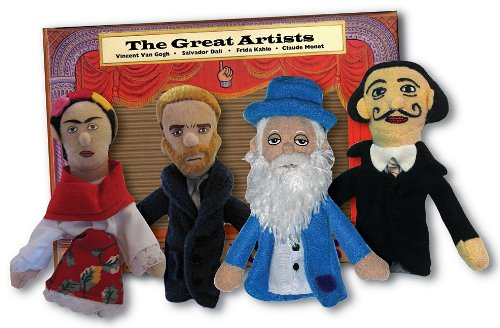 Preisvergleich Produktbild Philosophers Guild Fingerpuppen-Set GREAT ARTISTS magnetisch - Bhne frei!