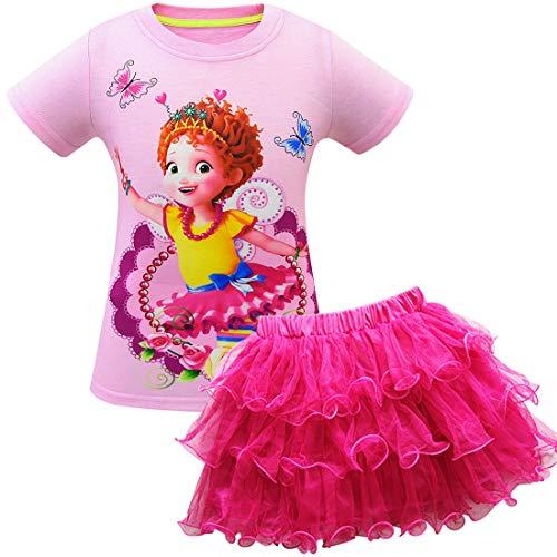 QYS Baby Mädchen Phantasie Nancy Kostüm Kleid Festzug Prinzessin Party Kleid Blume Abendkleider Tutu Kleid,pink4,130cm