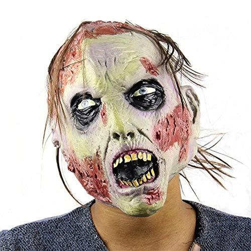 DWcamellia Masken für Erwachsene Kostüm Maske gruselig Halloween Maske realistisch verrückt Gummimaske Gruselige Party Maske Halloween Kostüm (Männliche Einhorn Kostüm)