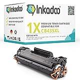 Inkadoo Toner kompatibel für HP Laserjet P1005, P1006, P1007, P1008 und P1009, ersetzt HP 35A, CB435A - Premium Drucker-Kartusche - Schwarz - 2500 Seiten