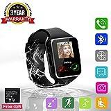 Adhope Smartwatch Montre Connectées Multi-Languages avec Ecran Tactile Montre Intelligent appareil prend en charge SIM TFCard Wrist Podomètre Sommeil Réveil Appel SMS Twitter Facebook Remarquer (x6)