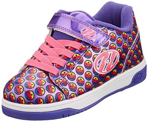 Heelys Unisex-Kinder X2 Fitnessschuhe, Mehrfarbig (Purple/Rainbow/Smile 000), 31 EU