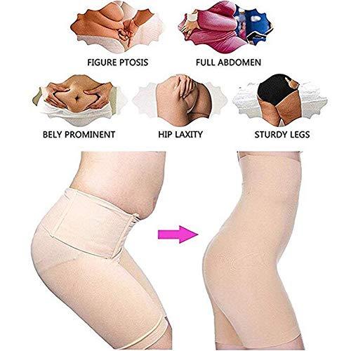 Damen Figurenformend Miederpants Miederhose Body Shape Bauch Kontrolle Unterwäsche Push-Up Po Und Butt Lifter Miederslip Höschen,Beige,XL/XXL - 6