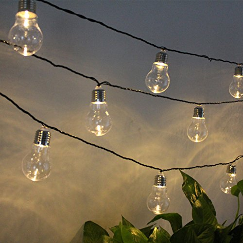 Imported From Abroad 6m 20 Led Clear Globe Indoor Outdoor Decoration Plastic Bulb Festoon Party Garden Yard Fence Lamp Holiday String Lights Access Control Kits