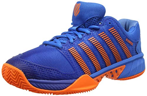 K-Swiss Performance Hypercourt Express HB Scarpe da Tennis Uomo, Blu (Brilliant Blue/Neon Orange 427M) EU