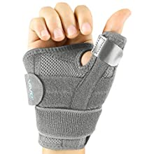 Vive Arthritis Thumb Splint - Thumb Spica Support Brace for Pain, Sprains, Strains, Arthritis, Carpal Tunnel & Trigger Thumb Immobilizer - Wrist Strap - Left or Right Hand (Grey)