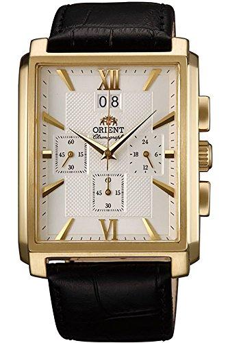 Orient Men's Chronograph Quartz Watch with Leather Strap FTVAA002W0