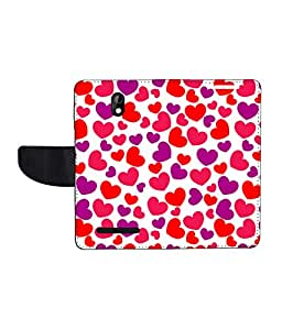 KolorEdge Printed Flip Cover For HTC Desire 500 - Multicolor(45KeMLogo7946HTC500)