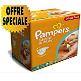 Couches Pampers - Taille 4 sleep & play - 300 couches bébé