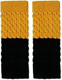 YIZYIF Reversible De Lana Crochet Pata Arranque Calcetines Puños Para Mujer Y Niña