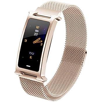 naack Smartwatch, Reloj Inteligente IP67 Pulsera Actividad Inteligente con Pulsómetro, Monitor de Sueño, Podómetro, Calorías Mujer Hombre para iOS y ...