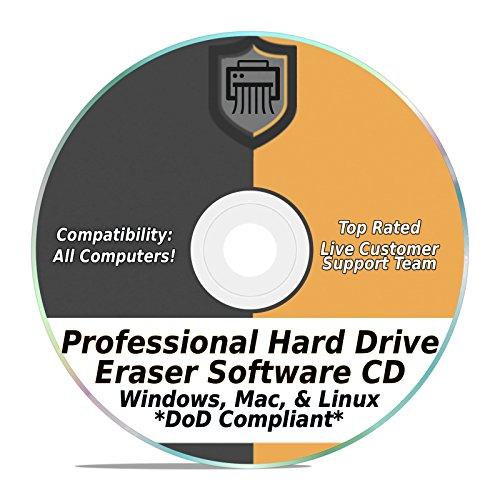 Hard Drive Radiergummi Software Wiper Disk Professional Secure DoD kompatibel SCSI CD Tool 32/64Bit für Windows - Mac - Linux Laptop oder Desktop