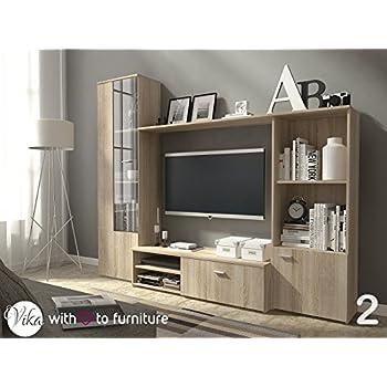 TV Unit HUGO . Wall Unit Living Room Furniture (Oak Sonoma ) Part 59