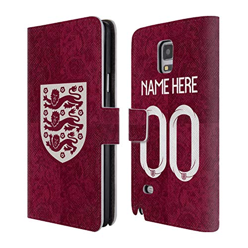 Head Case Designs Personalisierte Individuelle England National Football Team Away 2019/20 Kit Für Frauen Leder Brieftaschen Huelle kompatibel mit Samsung Galaxy Note 4